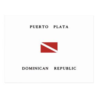 Puerto Plata Dominican Republic Scuba Dive Flag Postcard