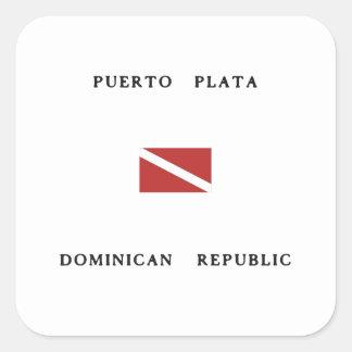 Puerto Plata Dominican Republic Scuba Dive Flag Sticker