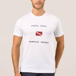 Puerto Plata Dominican Republic Scuba Dive Flag T-Shirt