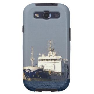 Puerto que entra de Zephyros del buque de carga Galaxy S3 Protectores