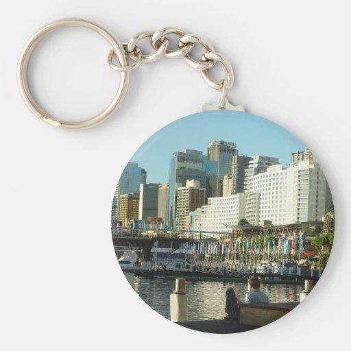 Puerto querido en Sydney en Nuevo Gales del Sur Llavero Redondo Tipo Pin