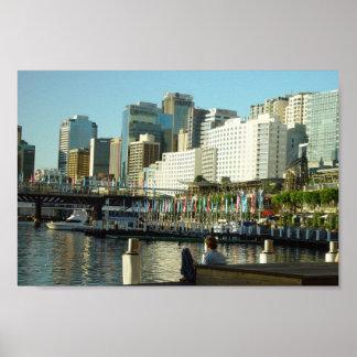 Puerto querido en Sydney en Nuevo Gales del Sur Poster