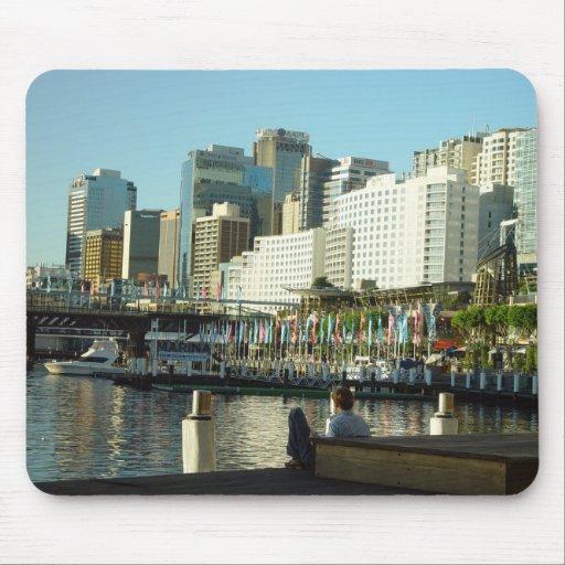 Puerto querido en Sydney en Nuevo Gales del Sur Alfombrillas De Raton