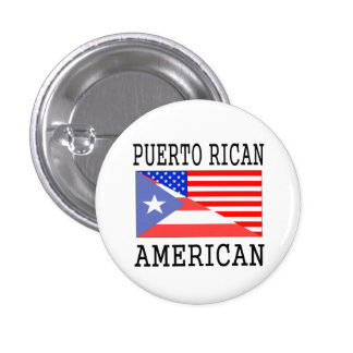 Puerto Rican American Flag 1 Inch Round Button