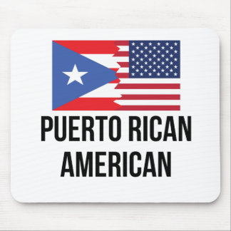 Puerto Rican American Flag Mouse Pad