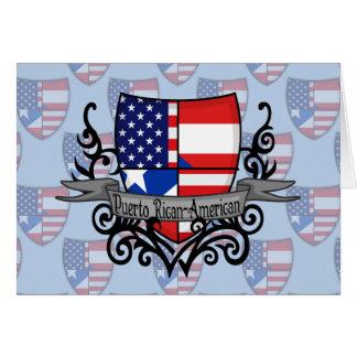Puerto Rican-American Shield Flag Card