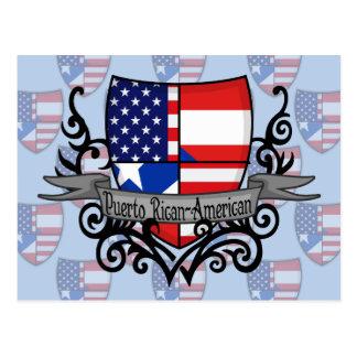 Puerto Rican-American Shield Flag Postcard