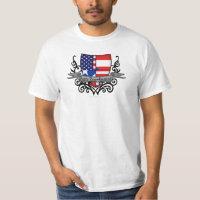 Puerto Rican-American Shield Flag T-Shirt