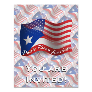 Puerto Rican-American Waving Flag Invites