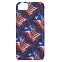 Puerto Rican-American Waving Flag iPhone 5C Case