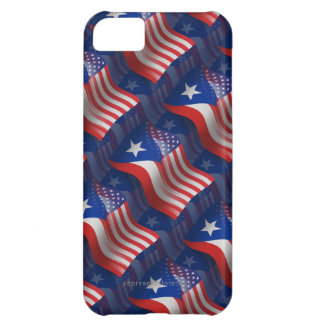 Puerto Rican-American Waving Flag iPhone 5C Case