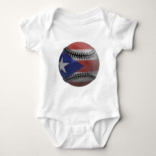 Puerto Rican Baseball Baby Bodysuit