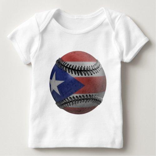 Puerto Rican Baseball Baby T_Shirt