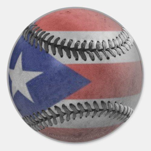 Puerto Rican Baseball Classic Round Sticker