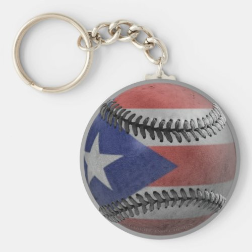 Puerto Rican Baseball Keychain