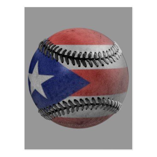 Puerto Rican Baseball Postcard