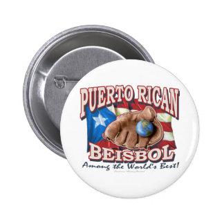 Puerto Rican Beisbol Button