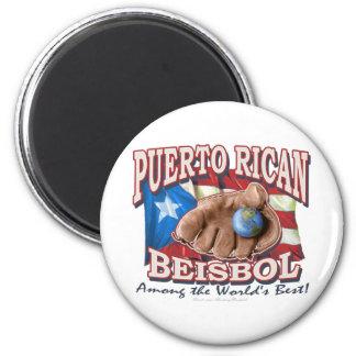 Puerto Rican Beisbol Magnet