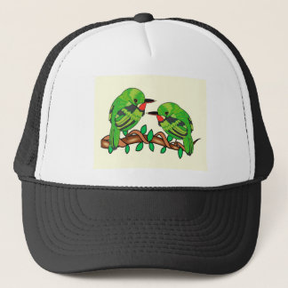 Puerto Rican bird love art Trucker Hat