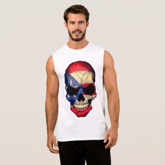 Puerto Rican Boricua Skull Double sided T Shirt