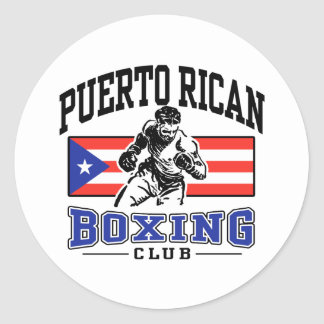 Puerto Rican Boxing Classic Round Sticker