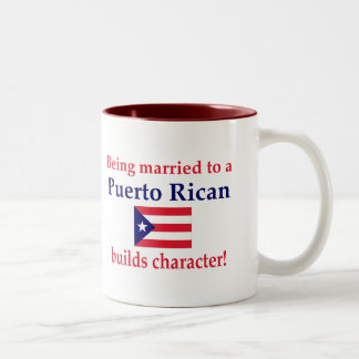 Puerto Rican Builds Character Two-Tone Coffee Mug