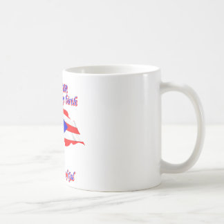 Puerto Rican by birth saved by the grace of God Coffee Mug