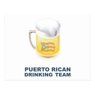 Puerto Rican Drinking Team Postcard