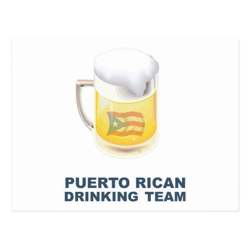 Puerto Rican Drinking Team Postcards