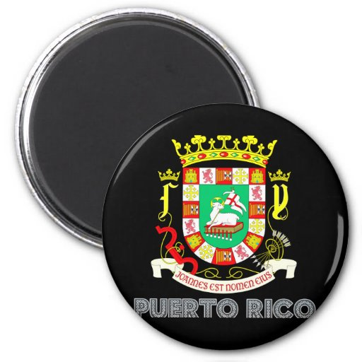 Puerto Rican Emblem 2 Inch Round Magnet