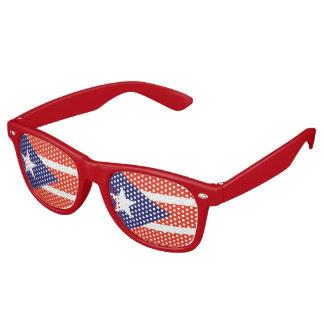 Puerto rican festive wayfarer sunglasses