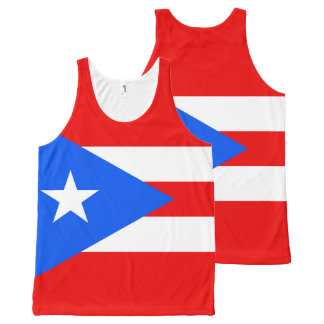 Puerto Rican flag All-Over-Print Tank Top