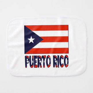 Puerto Rican Flag and Puerto Rico Burp Cloth