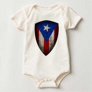 Puerto Rican Flag Baby Baby Bodysuit
