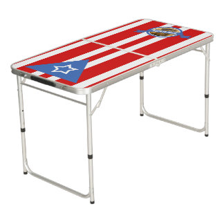 Puerto Rican Flag: Bandera Puertorriquena Beer Pong Table