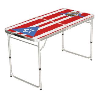 Puerto Rican Flag: Bandera Puertorriquena Pong Table