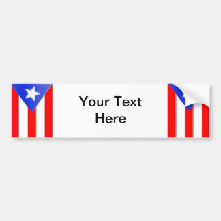 Puerto Rican Flag Bumper Sticker