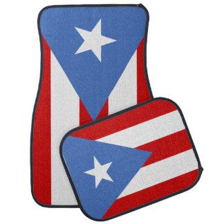 Puerto Rican Flag Car Mat
