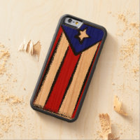 Puerto Rican Flag Carved® Cherry iPhone 6 Bumper Case