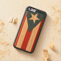 Puerto Rican Flag Case iPhone 6 Wood Stain