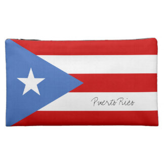 Puerto Rican Flag Cosmetic Bag