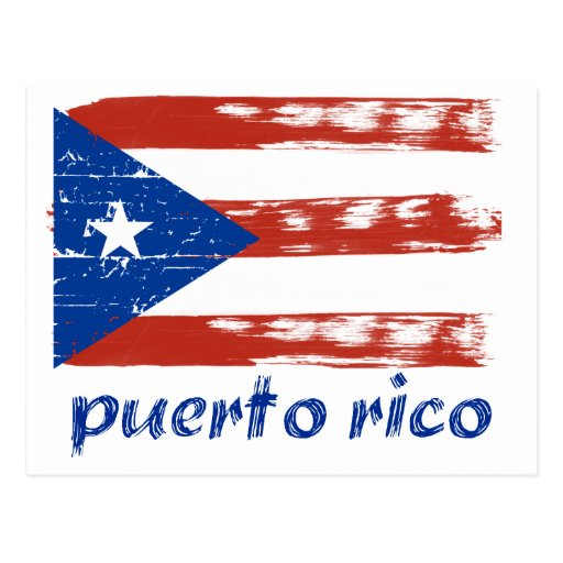 Puerto rican flag design postcard