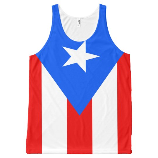Puerto Rican Flag Designs All Over Print Tank Top