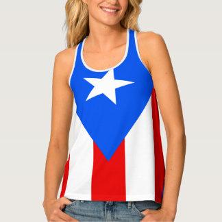 Puerto rican flag designs tank top