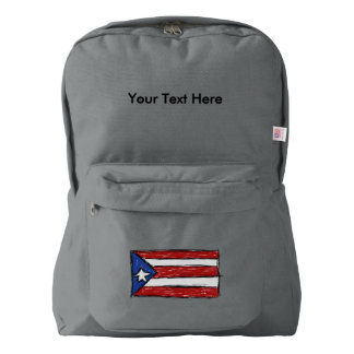 Puerto Rican Flag Drawing American Apparel™ Backpack
