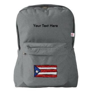 Puerto Rican Flag Drawing American Apparel™ Backpack