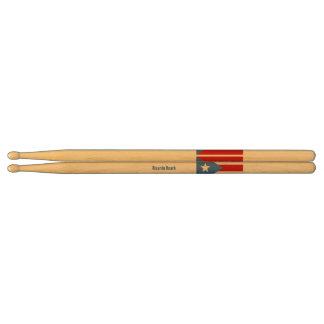 Puerto Rican Flag Drumsticks