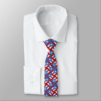 Puerto Rican Flag Festive Small Pattern Tie