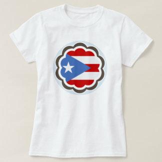 Puerto Rican Flag Flower T-Shirt