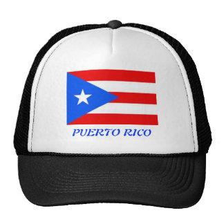 Puerto Rican flag Hats